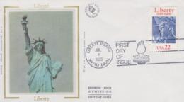 Enveloppe  FDC  1er  Jour   U.S.A   Statue  De  La  Liberté    Emission  Commune  Avec  La  France  1986 - Joint Issues