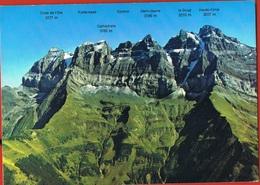 SUISSE - VALAIS - Les Dents Du Midi Avec Noms Des Pics- Circulée  -postée à CHATEL-Hte Savoie 1997 - VS Valais