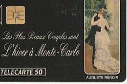 TRES RARE           ME6a   1991 RENOIR  ; Danse à La Ville 1883      NUMEROTEE 0635         1000EX    2 SCANS - Mónaco