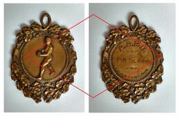 1920's Original Originele Medal  Médaille Boxing Sport Boksen Bokssport Antwerp Antwerpen Belgium - Kleding, Souvenirs & Andere
