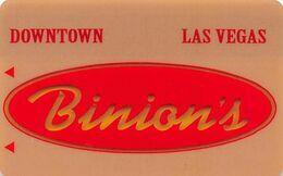 Binion's Casino Las Vegas, NV - BLANK Slot Card - Partially Clear Center With Silver Mag Stripe - Casinokarten