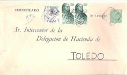 SEP FRANCO CERTIFICADO  TALAVERA DE LA REINA - 1931-....