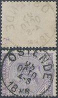 "émission 1883 - N°41 Obl Simple Cercle ""Ostende"". TB - 1883 Leopold II."