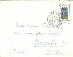 CARTA  1962 LA HERRADURA  GRANADA - 1931-Aujourd'hui: II. République - ....Juan Carlos I