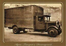 Alger  Camion Berliet Transport Et Déménagement Corse  -Berliet Fourgon 25 M3 - Serra & Taddéi Années 30/40 - Algeri