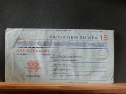 AEROGRAMME LOT 37:   AEROGRAMME PAPUA NEW GUINEA VENTE RAPIDE 1.20 EURO - Papua New Guinea