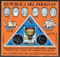PARAGUAY -  BLOC  N°227 ** NON  DENTELE ** (1974) Navigateurs - Ships