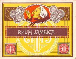 "010979 ""RHUM JAMAICA""  ANIMATA. I QUARTO XX SECOLO. ETICHETTA ORIG. - Rhum"