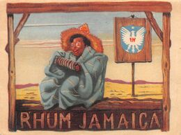 "010980 ""RHUM JAMAICA""  ANIMATA. III QUARTO XX SECOLO. ETICHETTA ORIG. - Rhum"