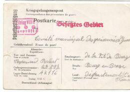 STALAG VIIC POSTKARTE  COLIS KRIEGS 1941 POUR BOURG AIN - Guerre De 1939-45