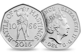 UK GREAT BRITAIN - GRANDE BRETAGNE - Großbritannien - Gran Bretagna 50 PENCE BATTLE OF HASTINGS UNC 2016 - 50 Pence