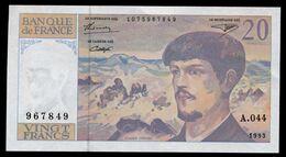 20 Francs Debussy 1993  Pr NEUF   A044 - 1962-1997 ''Francs''
