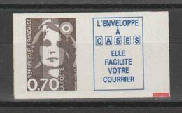 FRANCE / 1994 / Y&T N° 2873a ** Ou AA 6a : Briat 70c Adhésif Lignes Ondulées + Vignette Caractères Gras (+ Repère) X 1 - Adhesive Stamps