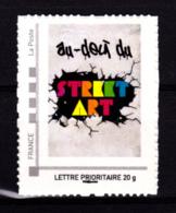 F 2012/N**/ Timbre Adhésif Provenant Du Collector Street Art/ Exposition Au-Delà Du Street Art Au Musée De La Poste - Autoadesivi