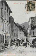 RENNES LES BAINS  (Aude ) : Grand Hôtel Et Grand Rue Animée    (1917 ) - Other Municipalities