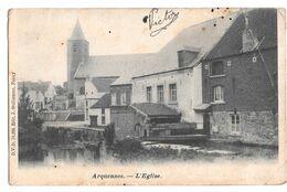Arquennes L'église D V D 10225 Edit J Guillaume  1908 - Seneffe