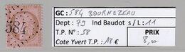 GC 584 Bournezeau ( Dept 79 )  S / N° 58 - 1849-1876: Periodo Classico