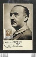 ESPAGNE - ESPAÑA - Carte MAXIMUM 1948 - Général FRANCO - Maximumkarten