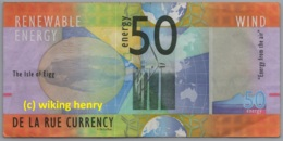Geldschein The Isle Of Eigg Schottland Scotland 50 Energy Wind De La Rue Currency - Otros