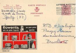 Publibel - 2059 - ROWENTA - GENLY -  FLAMME LOTERIE NATIONALE. - Publibels