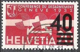 """Schweiz Suisse 1937: """"Aufdruck 40="""" Zu Flug 25 Mi 310 Yv PA25 Mit Voll-Stempel ARBON 5.II.38 (Zu CHF 30.00) - Usados"""
