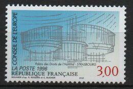 Timbre France Neuf De 1996 N° Service 3  Conseil De L'Europe - Neufs