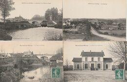 4 CPA:MAREUIL SUR OURCQ (60) DÉVERSOIR PONT DU CANAL,ÉCLUSE ET PONT,VUE,GARE VUE EXTÉRIEURE - France