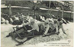 CPA -63 - LE MONT DORE - Sports D'hiver - BOBSLEIGH - LUGE - Equipe Mont Blanc - 1937 - Le Mont Dore