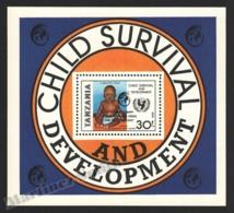 Tanzania - Tanzanie 1986 Yvert BF 48, Children. Baby. Child Survival & Development - Miniature Sheet - MNH - Tanzania (1964-...)