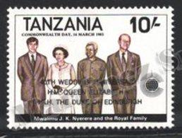 Tanzania - Tanzanie 1988 Yvert 417, Royalty. 40th Wedding Anniv Queen Elizabeth & Duke Edimburgh - MNH - Tanzania (1964-...)