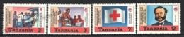 Tanzania - Tanzanie 1988 Yvert 420-23, Organizations. Health. 125th Anniv International Red Cross & Red Crescent - MNH - Tanzania (1964-...)