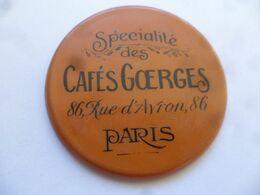 """(Publicité Ancienne - Paris 20è) - Miroir De Poche Publicitaire """" Spécialités Des Cafés GOERGES  ???, 86 Rue D'Avron """" - Other"""