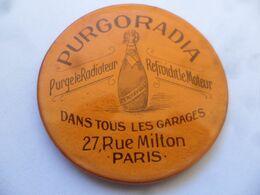 """(Publicité Ancienne - Automobile !!)- Miroir De Poche Publicitaire """"PURGORADIA, Purge Le Radiateur, Refroidit Le Moteur"""" - Other"""
