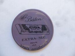 """(Publicité Ancienne - Belgique) - Miroir De Poche Publicitaire  """" Chocolat CIDA - Le Bâton.....pour Les Vrais Amateur """" - Other"""