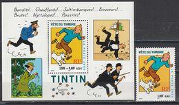 France 2000 - Comics:Tintin Et Milou, YT 3303+BF 28, Neufs** - Unused Stamps