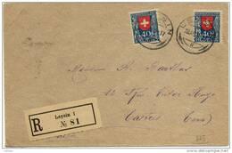 1194) Suisse N° 187 Par 2 Sur Enveloppe Oblitération Du 28.12.22 De Leysin Pour Castres 81 - Suisse