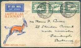1932 South Africa, Imperial Airways, First Return Flight Airmail Cover Capetown - London  / Edinburgh - Posta Aerea
