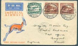 1932 South Africa, Imperial Airways, First Return Flight Airmail Cover Capetown - London  / Gosport - Posta Aerea