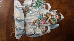Grand Chromo Decoupis''Trio Di Angioletti Con Regali Natale'' 25x34 MAGNIFIQUE - Ohne Zuordnung