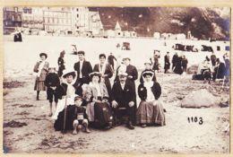 X62159 Carte-Photo 1920s à Localiser Pas De Calais Nord  Ou Normandie Groupe Touristes Plage N°1103 - Francia