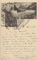 74 CHAMONIX MONT BLANC GLACIER DE LA MER DE GLACE MONTENVERT OU MONTENVERS MAUVAIS PAS - Chamonix-Mont-Blanc