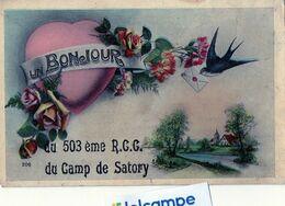 VERSAILLES -  Un Bonjour Du 503ème  R.C.C Du Camp De SATORY  (78)  Régiment De Chars De Combat. - Versailles