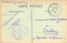 """PHILATELIE / MARCOPHILIE / OBLITERATION Perthes 6e Corps D'Armée / GUERRE 1914/1918 / CPA FRANCE 52 """"Saint Dizier"""" - 1. Weltkrieg"""