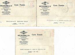 88 - Lot De 3 Cartes Postales Commerciales De La Sté Métallurgique De L' Est à Epinal Pour Detroye à Corre ( 70 ) - Epinal
