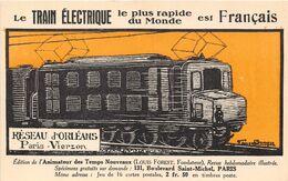 18-VIERZON- LE TRAIN ELECTRIQUE LE PLUS RAPIDE DU MONDE- PARIS VIERZON - Vierzon
