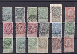 Fine Barbe Et Armoirie Oblitérations Ambulant  Qualité Mixte - 1893-1900 Barba Corta