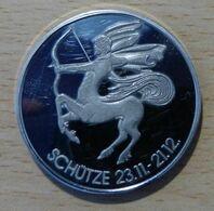 Médaille Sagittaire 23/11  21/12 Avec Pierre Bleue Sur Une Face - Non Classés