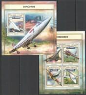 ST451 2016 SIERRA LEONE TRANSPORT AVIATION CONCORDE KB+BL MNH - Concorde