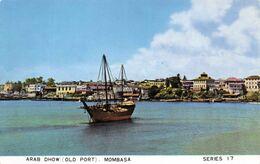 MOMBASA - ARAB DHOW OLD PORT ~ AN OLD REAL PHOTO POSTCARD #23990 - Kenia