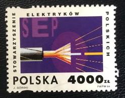 Polska - Poland - P2/49 - (°)used - 1994 - Michel Nr. 3494 - 75 Jaar Elektriciteitsverbond - 1944-.... Republic